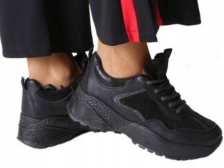 66a058e54c9a Botki Na Koturnie Sneakersy Czarne NC163 r.39 - Ceny i opinie - Ceneo.pl