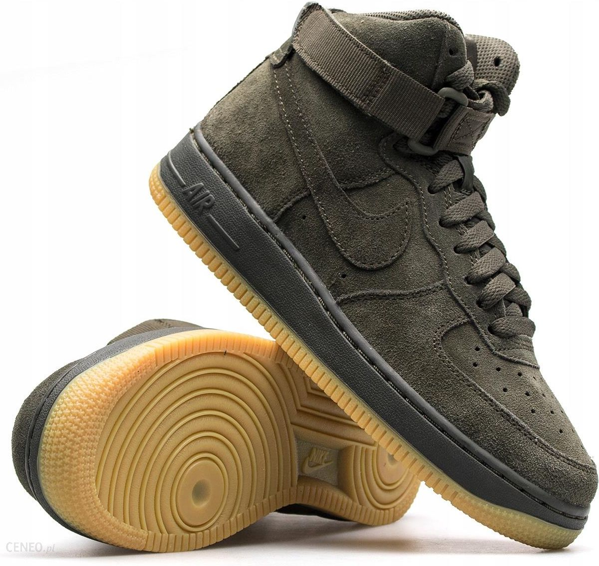 Nike Buty dziecięce Air Force 1 High Lv8 Gs zielone r. 38 (807617 300)