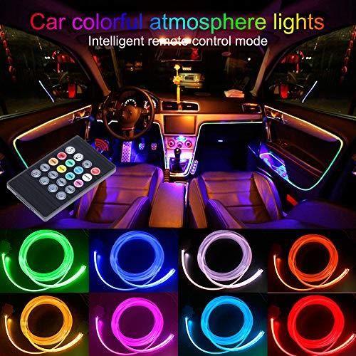 Amazon Taben Listwy Neonowe Led Do Samochodu Zestaw 4 Częściowy 8 Kolorów Do Dekoracji Samochodu Nastrojowe światło Oświetlenie Wnętrza Wodoszcz
