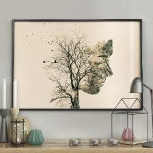 0725ca06d3a0c8 DecoKing Plakat ścienny Girl Silhouette Tree 50x70cm