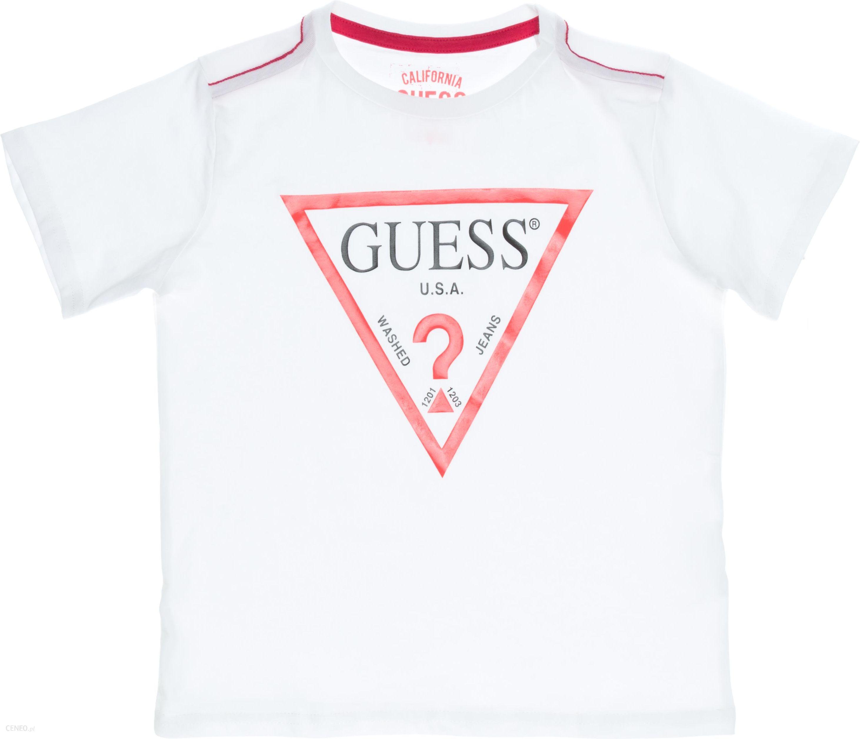 ad59288db Guess Koszulka dziecięce Biały 7 lat - Ceny i opinie - Ceneo.pl