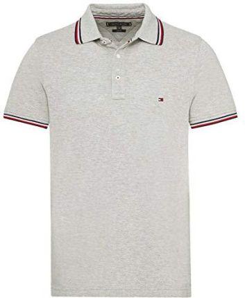 a700904746 Amazon Tommy Hilfiger męska koszulka polo Tommy Tipped Slim Polo - krój  dopasowany xl