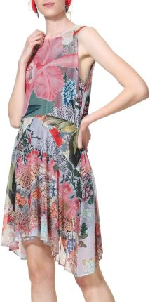 743d1f8edc Desigual kolorowa sukienka Vest Lucille - XXL