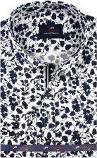 Koszula Męska Viadi Polo biała we wzory SLIM FIT na długi  E8wHs