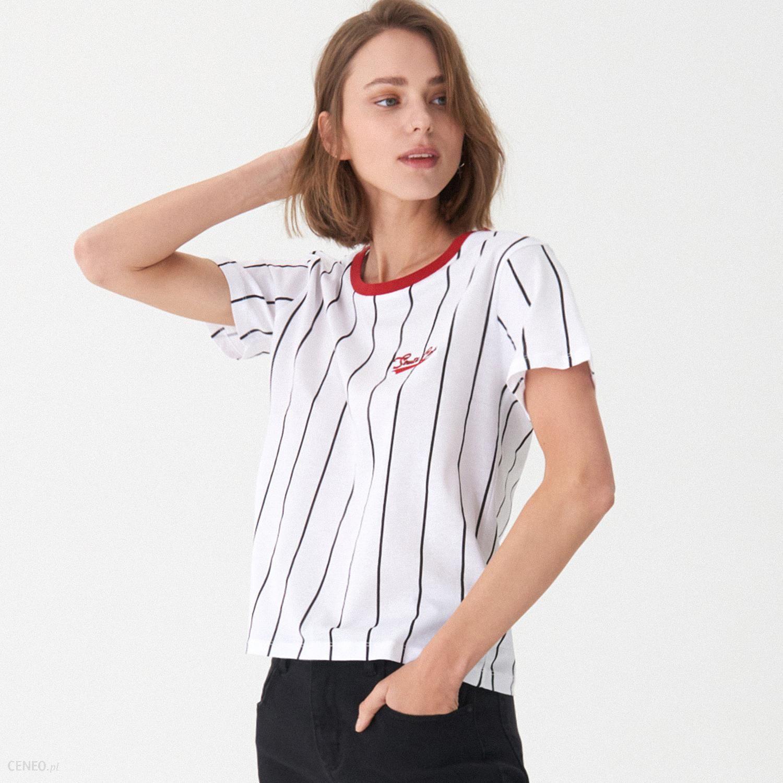 6ea4e5dedcdd6 House - T-shirt w paski - Biały - Ceny i opinie - Ceneo.pl