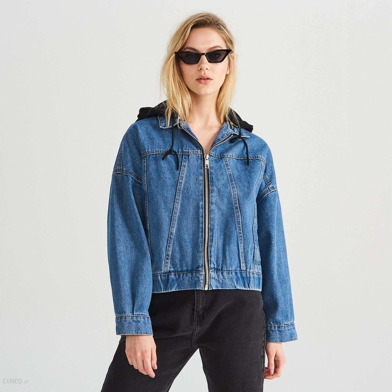 e50a950419 Reserved - Kurtka jeansowa - Niebieski - Ceny i opinie - Ceneo.pl