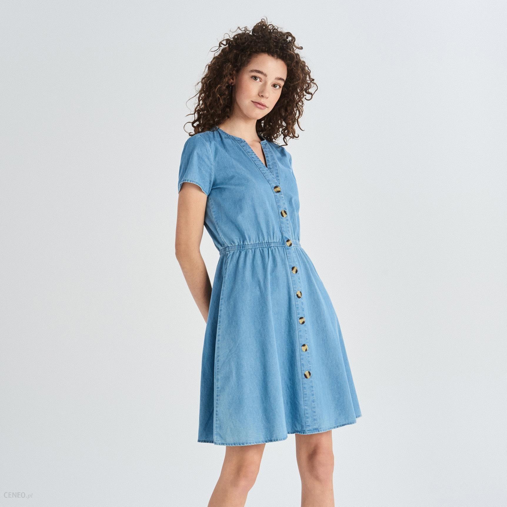 e7445baf5a Sinsay - Jeansowa sukienka - Niebieski - Ceny i opinie - Ceneo.pl