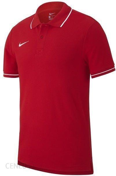 Koszulka chłopięca Team Club 19 Polo Kids Nike (university redwhite) Ceny i opinie Ceneo.pl