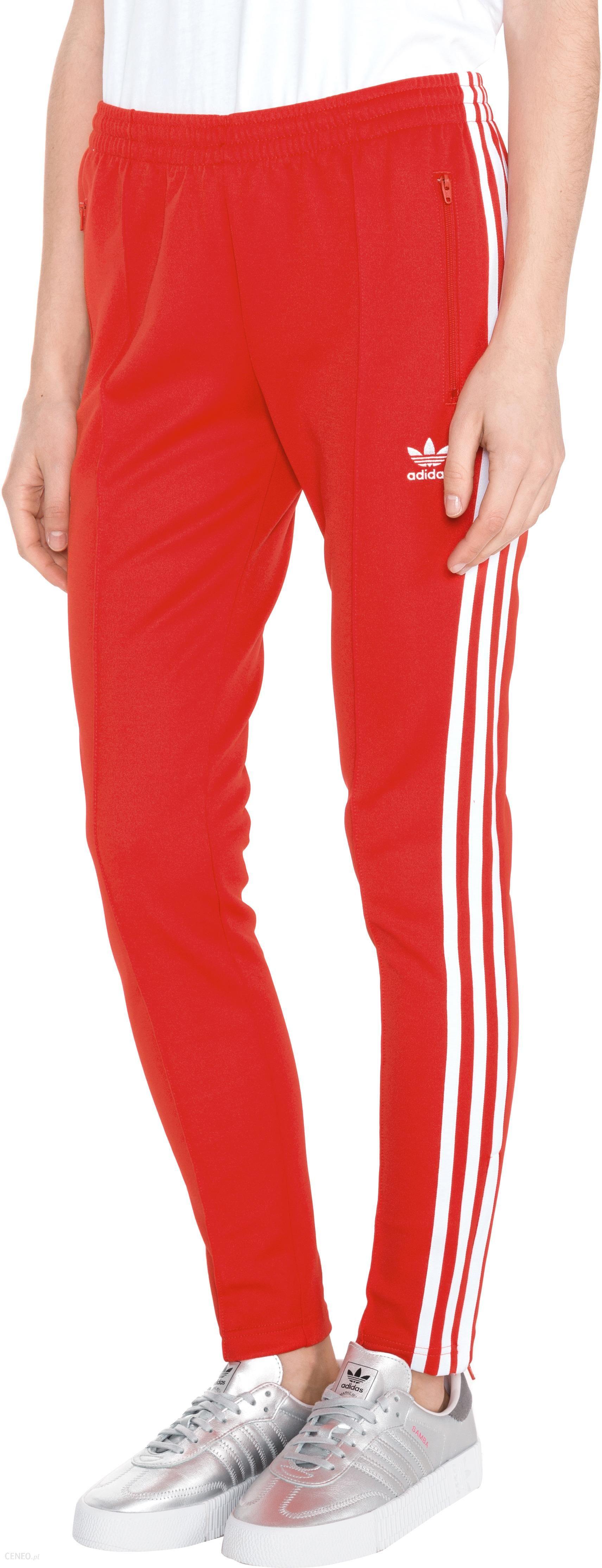 spodnie adidas sst damskie czerwone