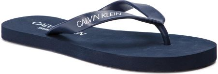 buy popular b6fa0 805ce Japonki CALVIN KLEIN - Ff Sandal KM0KM00341 Blue Shadow 445 eobuwie