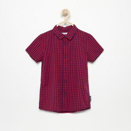 86c7926cde079 Reserved - Koszula w kratkę z krótkim rękawem - Czerwony ...