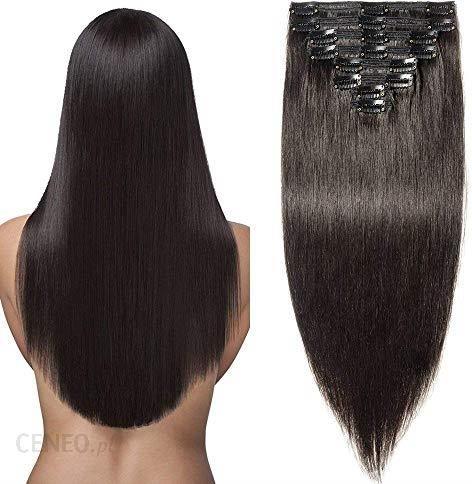 Amazon Przedłużki Do Włosów Typu Clip In Remy Doczepiane Włosy Do Całej Fryzury 8 Tresek Podwójna Grubość Ceneopl