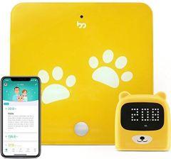 ba8fb177ec0c7a Amazon Growp Smart Bluetooth urządzenie do monitorowania wzrostu – bardzo  precyzyjna waga cyfrowa i miernik z