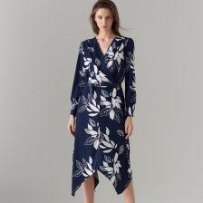 638802fd96 Mohito - Asymetryczna sukienka z paskiem - Niebieski
