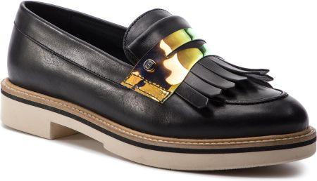 16ab98985046c Półbuty TOMMY HILFIGER - Iridescent Detail Loafer FW0FW03930 Black ...