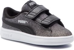 ce37791b Sneakersy PUMA - Smash V2 Glitz Glam V Inf 367380 05 Puma Black/Puma Silver  eobuwie