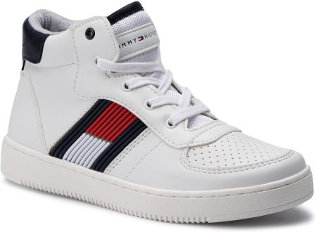6fdb243d5b8d7 Trampki dziecięce VansVans - Tenisówki dziecięce 139,90zł. Sneakersy TOMMY  HILFIGER - High Top Lace Up Sneaker T3B4-30313-0625 D White eobuwie
