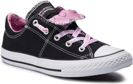 46ef106e8ae3d Trampki CONVERSE - Ctas Maddie Slip 664636C Black/Prism Pink/White eobuwie