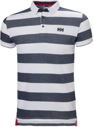 Helly Hansen Marstrand Polo Navy Stripe S - Ceny i opinie T-shirty i koszulki męskie FWRJ