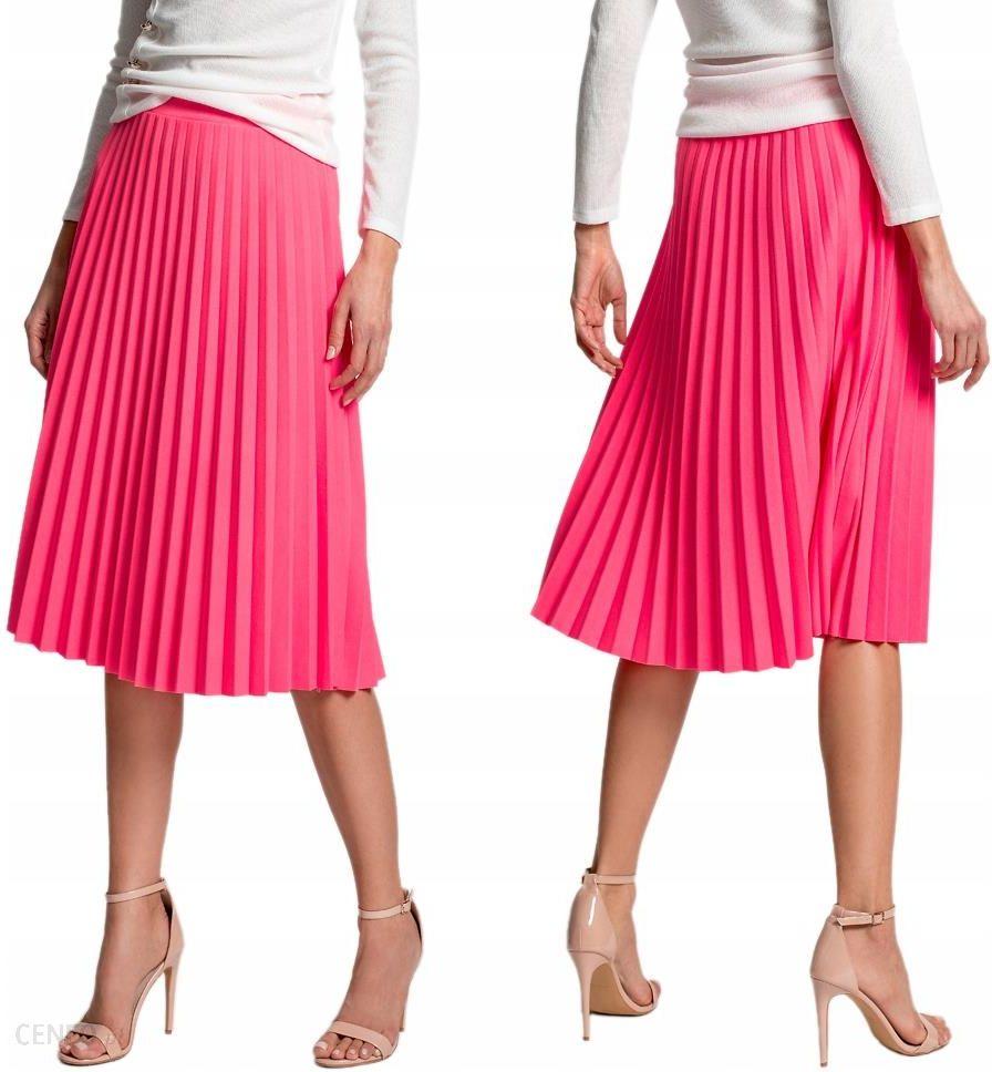 3a20bae7 Plisowana spódnica retro na gumce F79 Neonowy Róż - Ceny i opinie - Ceneo.pl