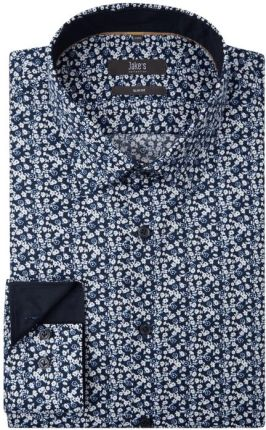 f53cb36b84478 Jake*s Koszula biznesowa o kroju slim fit ze wzorem w drobne kwiaty ...