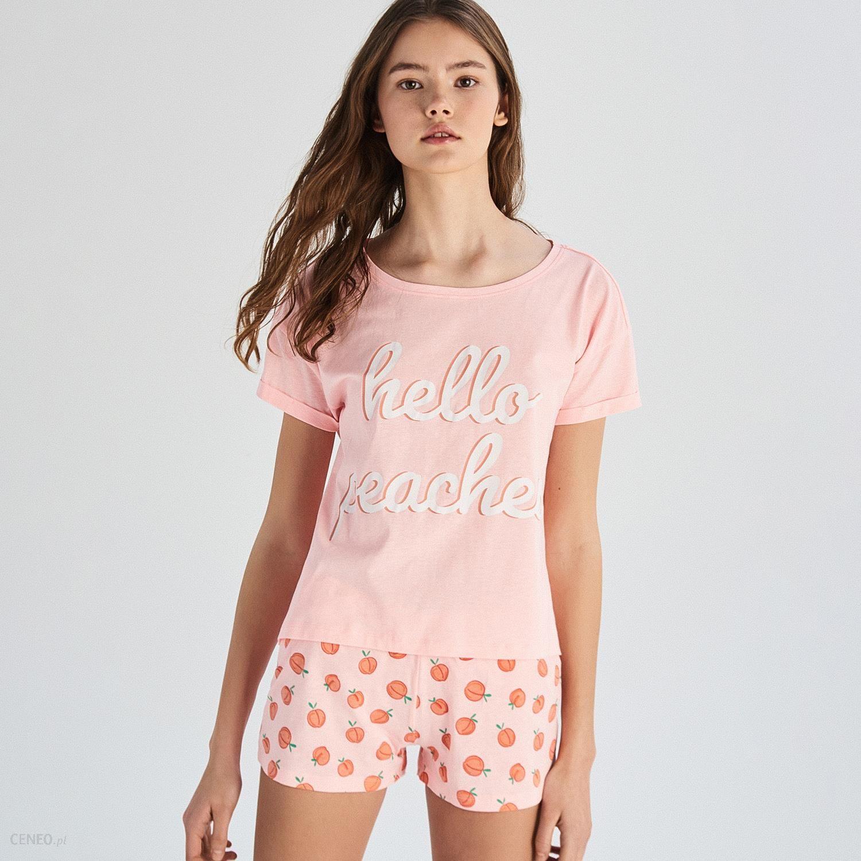 bd44afced7545c Sinsay - Dwuczęściowa piżama z napisem - Pomarańczo - Ceny i opinie ...