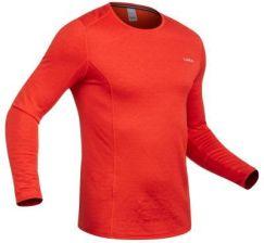 18545303e5f13d Wed'Ze Koszulka Termoaktywna Na Narty 500 Męska Pomarańczowy