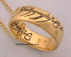 Badali Jewelry LOTR Gollum Gold Necklace Black (GG-02)