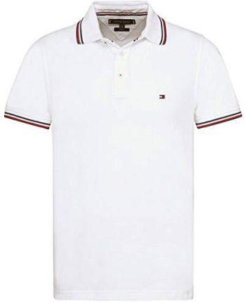 33732b8752756 Amazon Tommy Hilfiger męska koszulka polo Tommy Tipped Slim Polo - krój  dopasowany l