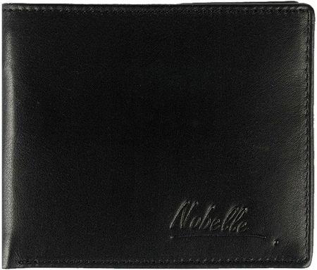 e29c5e066d980 Klasyczny skórzany portfel męski funkcjonalny Nobelle czarny poziomy ...