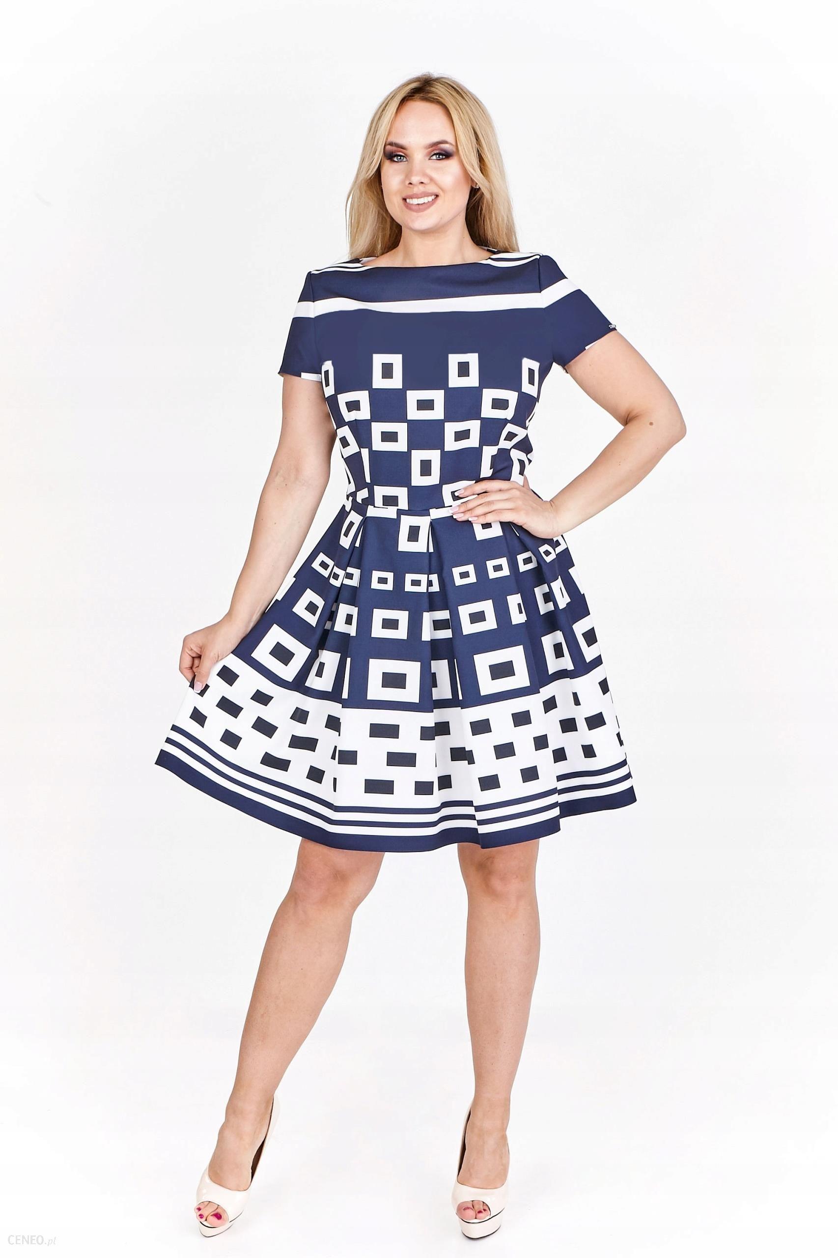 Sukienka Koktajlowa W Geometryczny Wzór M557061f Ceny I Opinie