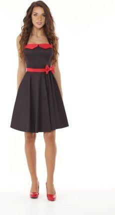 c4c8fcd47b Rozkloszowana sukienka w stylu pin up z gorsetową Allegro