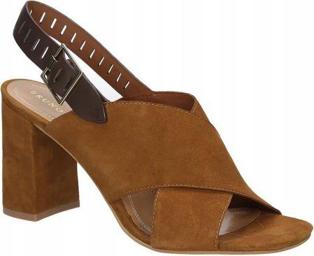 d6486a569555c Podobne produkty do Czarne sandały na słupku kropki Sergio Leone 3831.  DAMSKIE BRĄZOWE SANDAŁY SKÓRA BRUNO PREMI F2501P Allegro