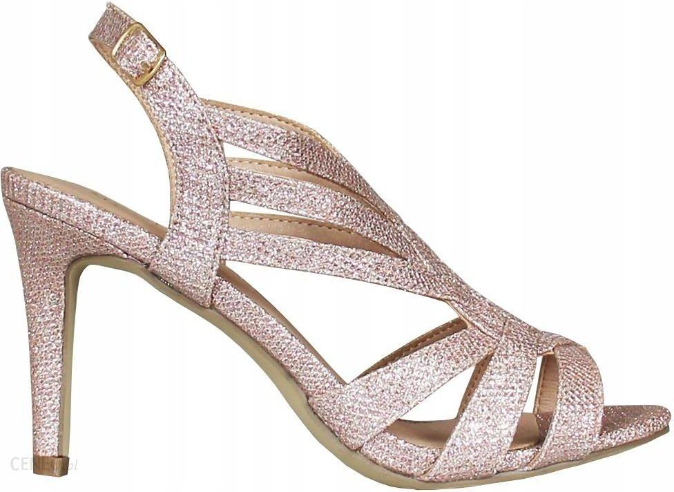 Szare Sandały Mateo 210 buty damskie szpilki R.37