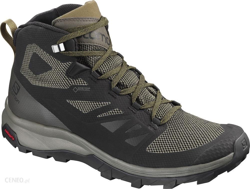 Buty trekkingowe Salomon Męskie Outline Mid Gore Tex® L40476300 Czarny Ceny i opinie Ceneo.pl