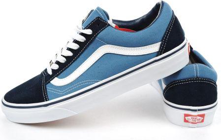 Niebieskie trampki Vans tenisówki na lato Jeansowe Ceny i