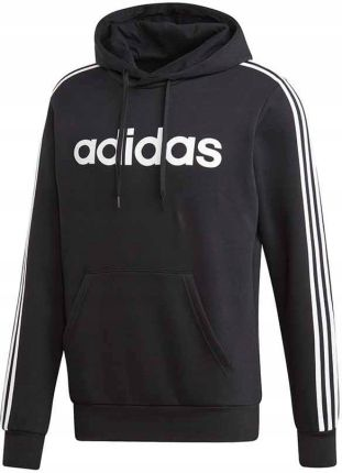 Bluza z kapturem męska Essentials 3 Stripes Adidas (czarna) Ceny i opinie Ceneo.pl