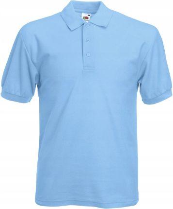 Koszulka Polo 65/35 Fruit of The Loom sky blue L - Ceny i opinie T-shirty i koszulki męskie ELTB
