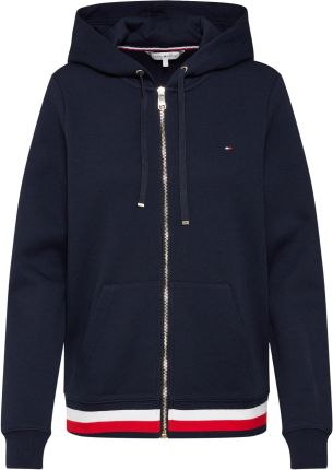 Bluza rozpinana 'HERITAGE ZIP THROUGH HOODIE' Tommy Hilfiger Bluzy rozpinane damskie szare w About You