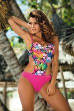 992a8af8fe4349 Jednoczęściowy strój kąpielowy Kostium Kąpielowy Model Blanca Foulard M-432  Pink - Marko