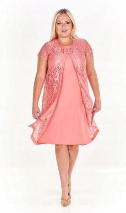 f89f6941a7 Pudełkowa sukienka z dodatkową koronkową warstwą a Allegro