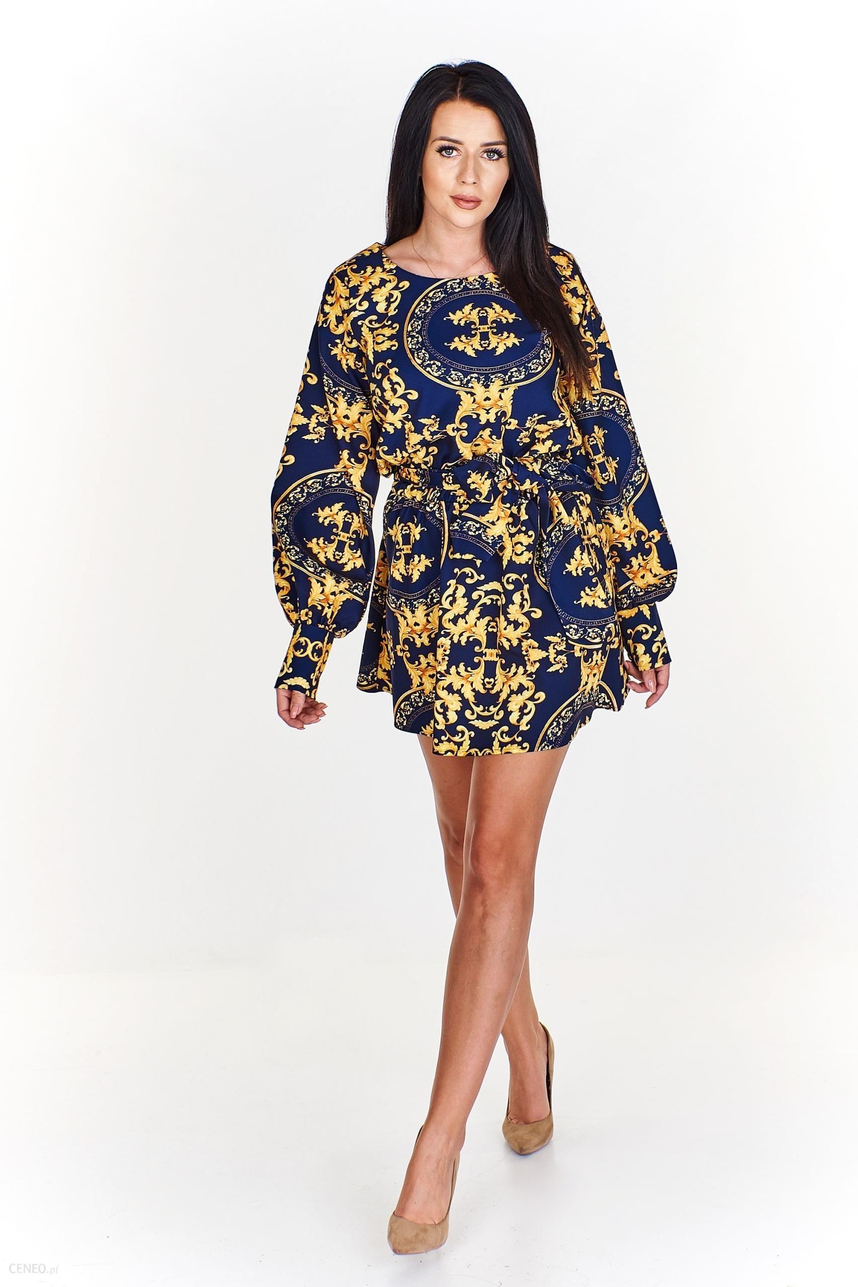 f28bbf86 Sukienka wiązana w pasie M59797_1_s - Ceny i opinie - Ceneo.pl