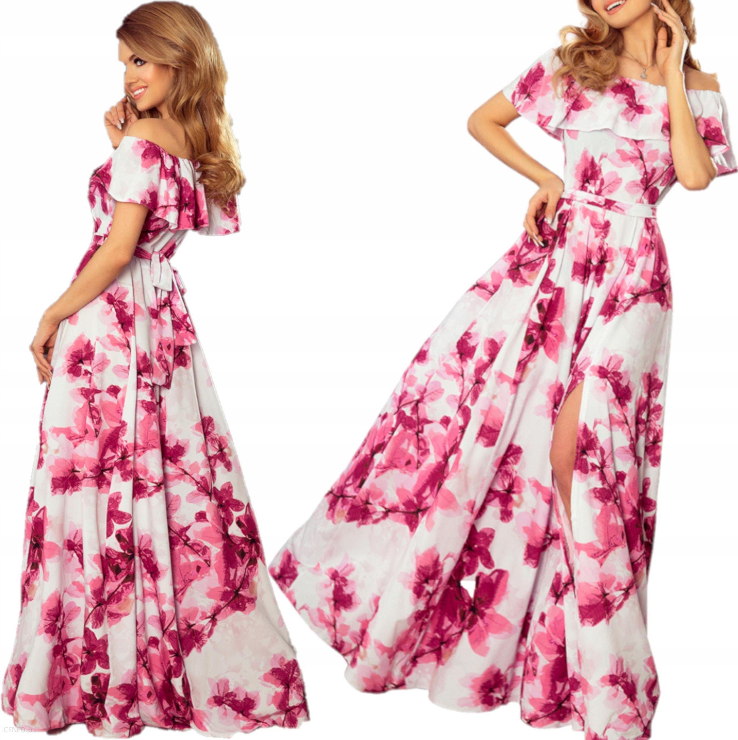 6392a34302 Długa Suknia Sukienka hiszpańskim dekoltem 194-2 L - Ceny i opinie ...