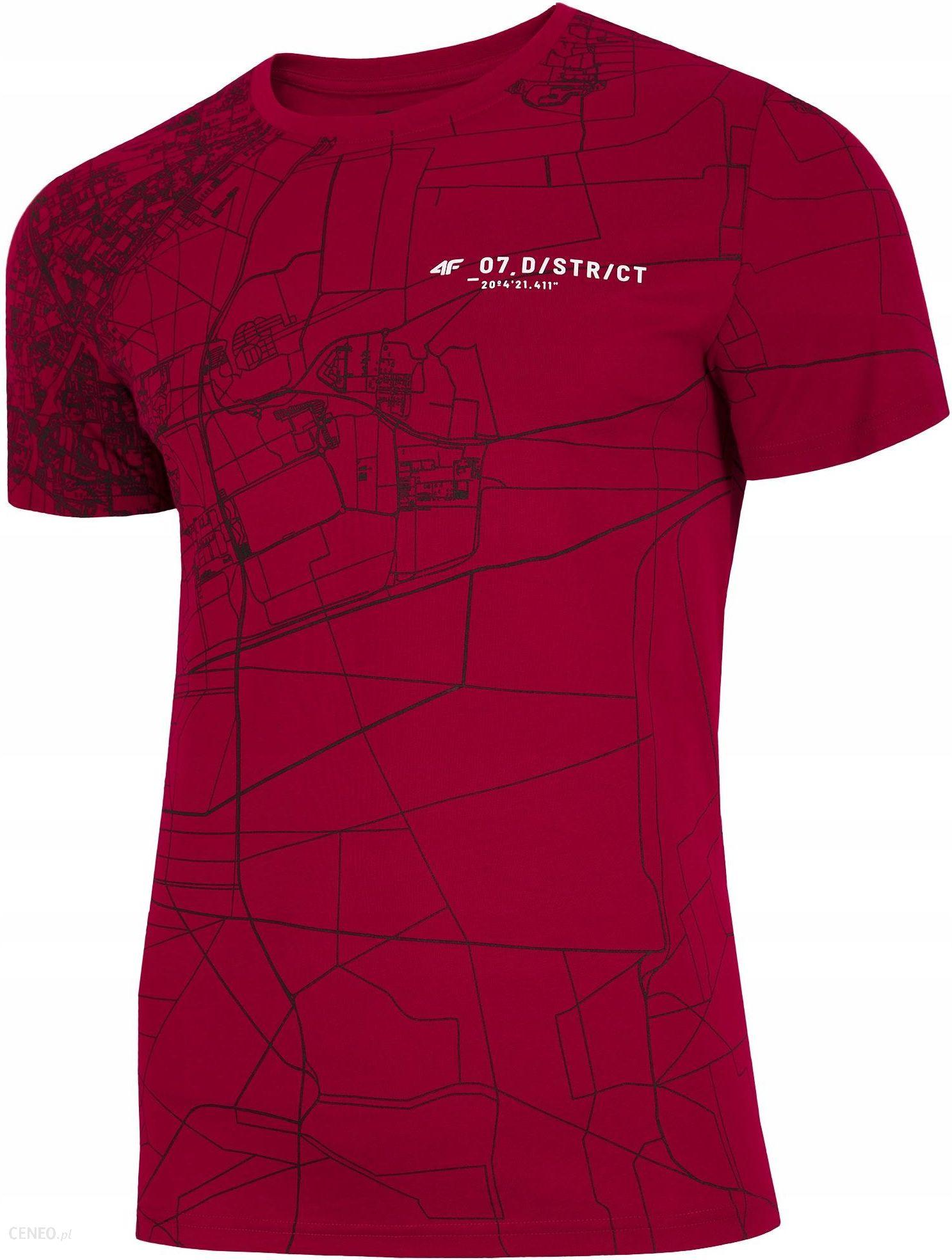 5328eba1f36545 Koszulka T-shirt Męski 4F TSM218 SS19 Czerwony XL - Ceny i opinie ...