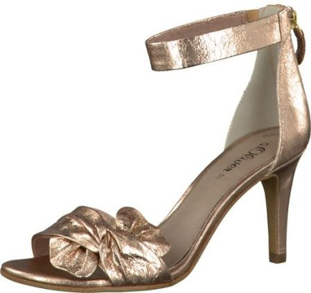 e1459c61ee7ba Oliver Buty Eleganckie damskie taśma tekstylna Metallic Rose 5-5-28350-