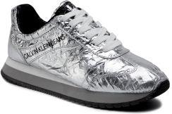 b5705519ff145 Sneakersy CALVIN KLEIN JEANS - Jill Metallic Crinkle R7806 Silver eobuwie