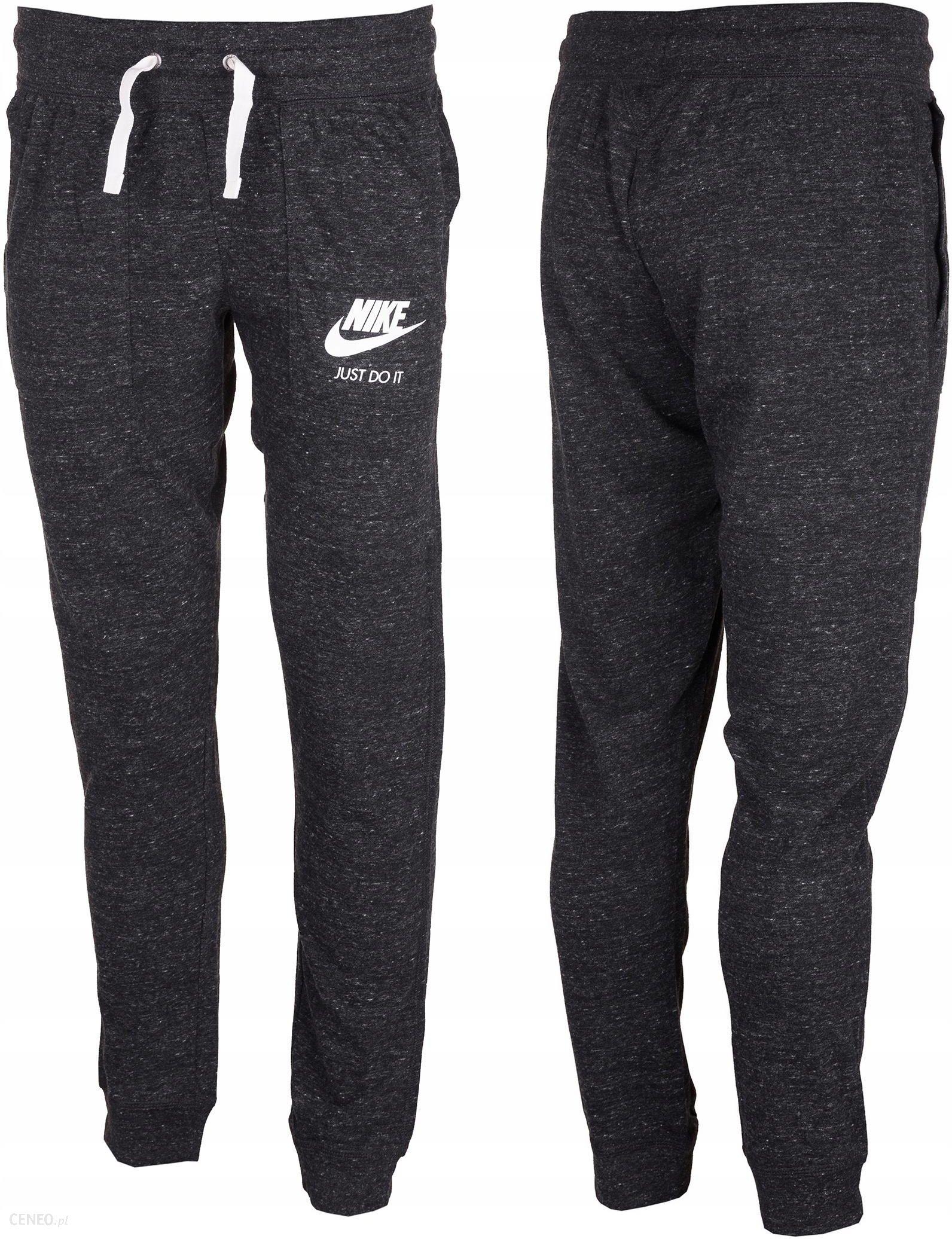 Spodnie dresowe damskie NSW Fleece Tight Nike (ciemny szary melanż)