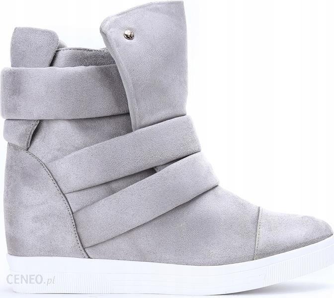 H6508 26 Gray Szare Sneakersy Eko zamsz 36 Ceny i opinie Ceneo.pl