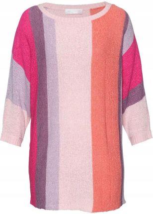 6c956d762d3f Długi sweter z kapturem Koraliki blezer E91 Szary - Ceny i opinie ...
