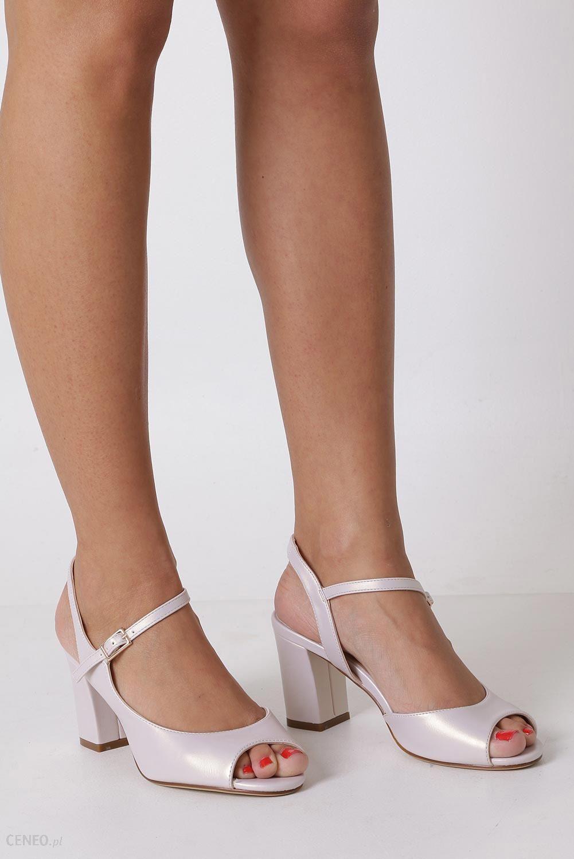 8dbc9f9c15cc16 Beżowe sandały na szerokim obcasie perła Sergio Leone SK808 - Ceny i ...